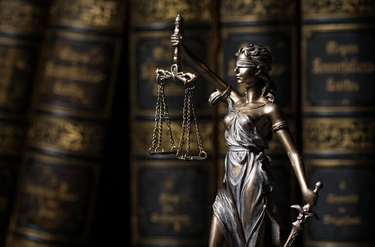 Tedmida na tle prawniczych książek